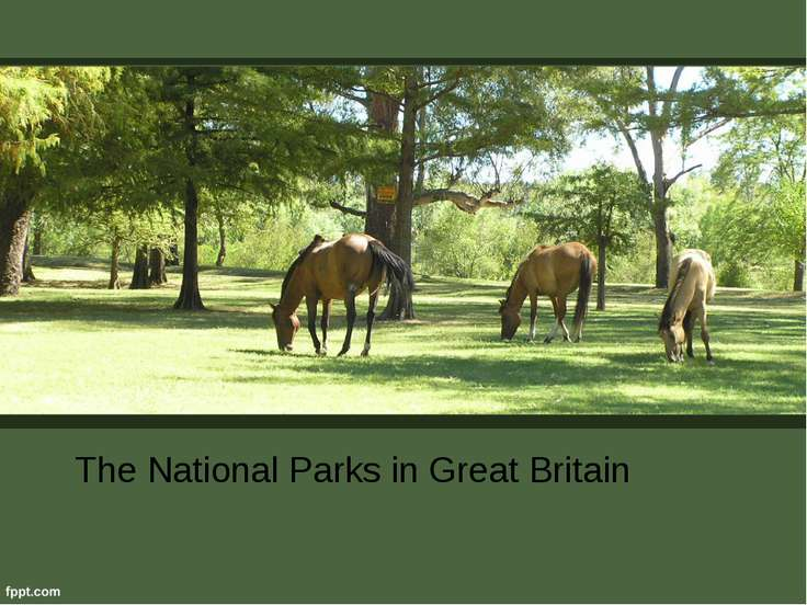 The National Parks in Great Britain