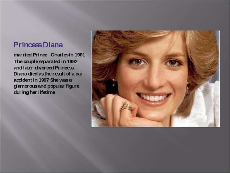Princess Diana married Prince Charles in 1981 The couple separated in 1992 an...