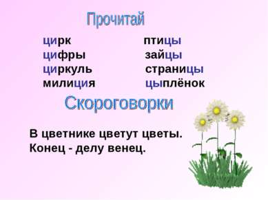 цирк птицы цифры зайцы циркуль страницы милиция цыплёнок В цветнике цветут цв...
