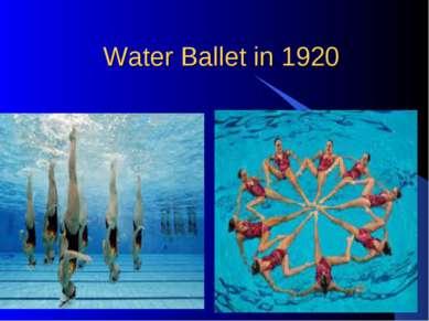 Water Ballet in 1920