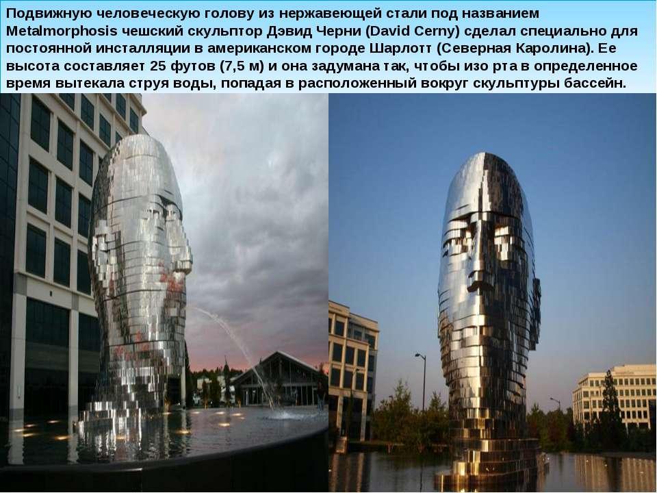 Подвижную человеческую голову из нержавеющей стали под названием Metalmorphos...