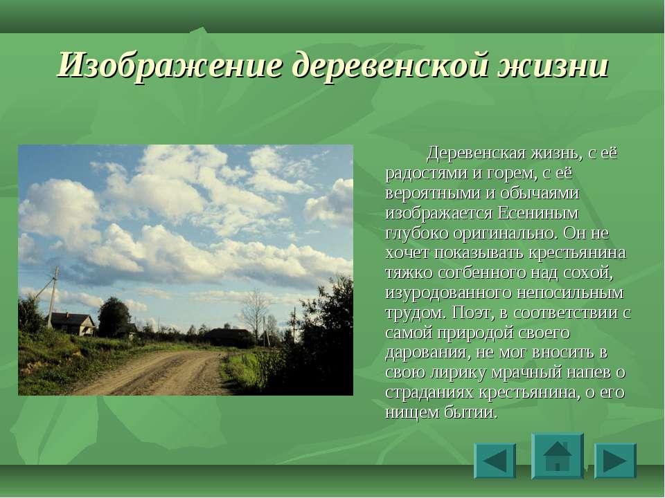 Изображение деревенской жизни Деревенская жизнь, с её радостями и горем, с её...