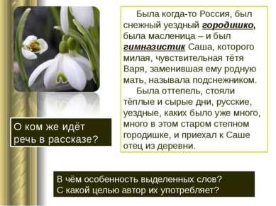 Была когда-то Россия, был снежный уездный городишко, была масленица – и был г...