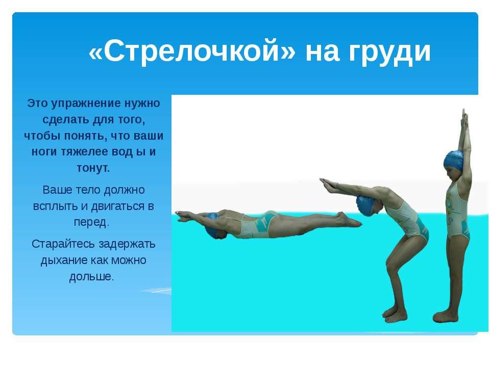 «Стрелочкой» на груди Это упражнение нужно сделать для того, чтобы понять, чт...