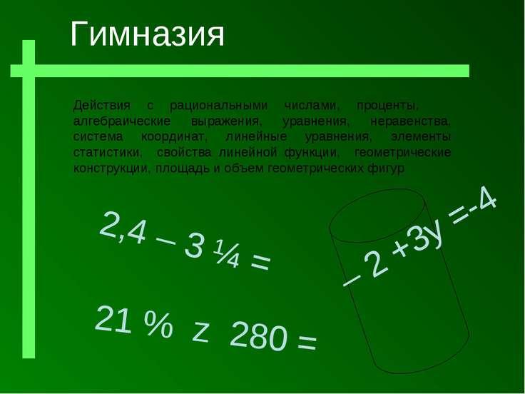 Действия с рациональными числами, проценты, алгебраические выражения, уравнен...