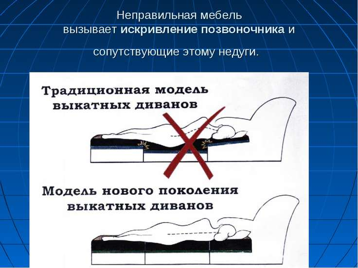 Неправильная мебель вызываетискривлениепозвоночникаи сопутствующие этому н...