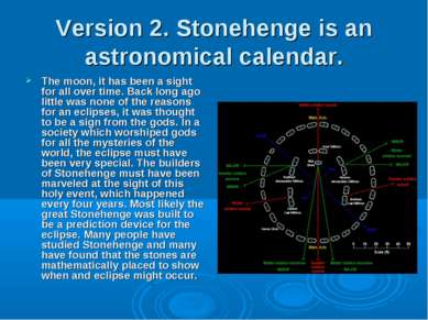 Version 2. Stonehenge is an astronomical calendar. The moon, it has been a si...
