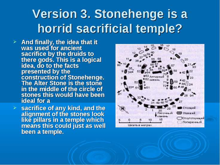 Version 3. Stonehenge is a horrid sacrificial temple? And finally, the idea t...