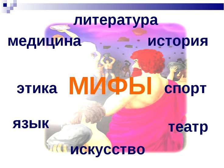 МИФЫ медицина история литература спорт этика театр язык искусство