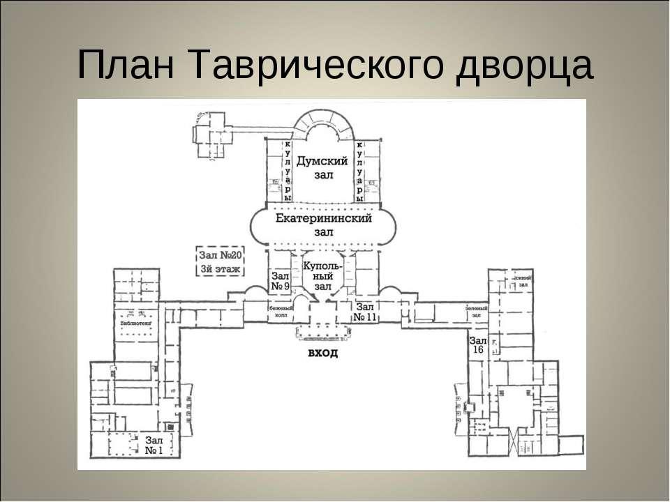 План Таврического дворца