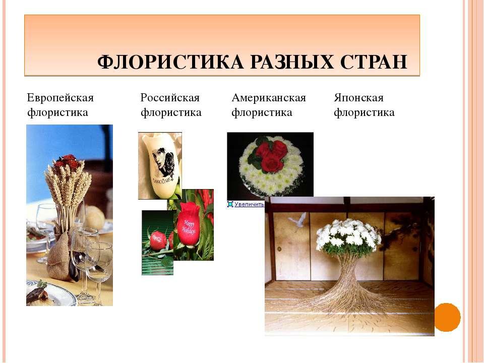 ФЛОРИСТИКА РАЗНЫХ СТРАН Европейская флористика Российская флористика Американ...