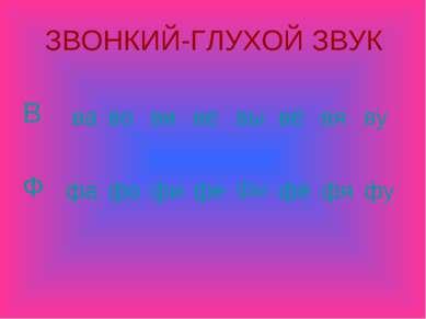 ЗВОНКИЙ-ГЛУХОЙ ЗВУК