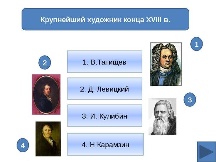 Автор картины «Портрет П.И.Ковалевой-Жемчуговой» 1. Д.Г.Левицкий 2. И.П.Аргун...