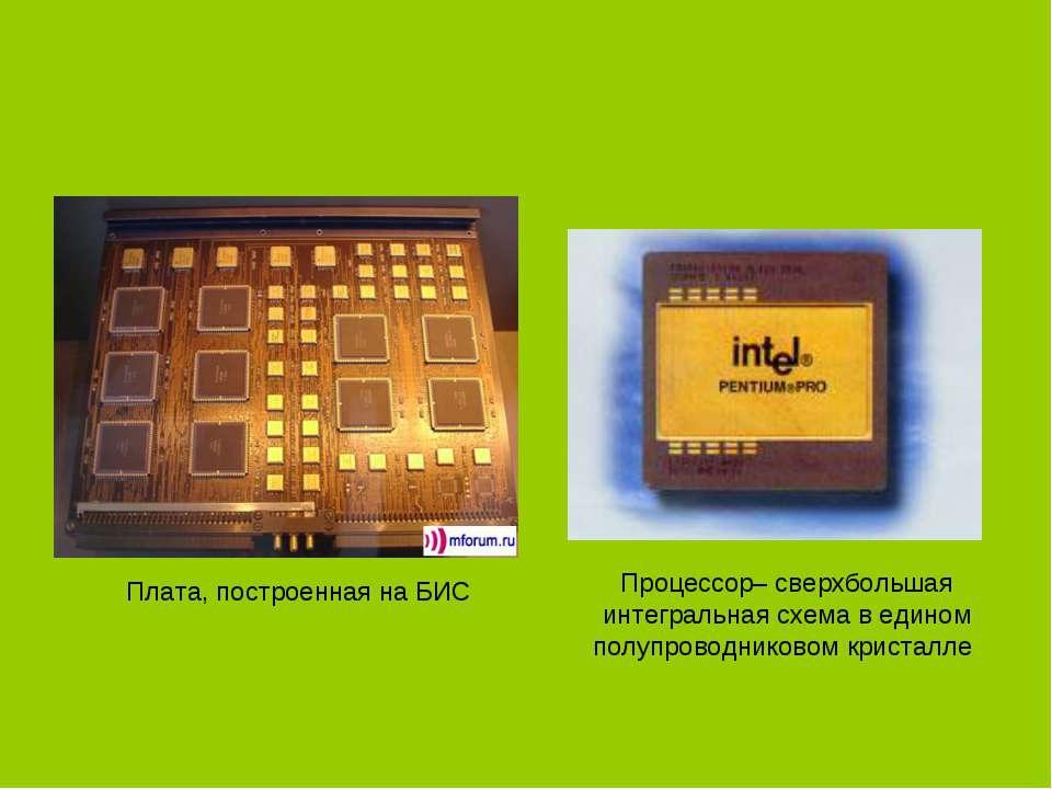 Плата, построенная на БИС Процессор– сверхбольшая интегральная схема в едином...