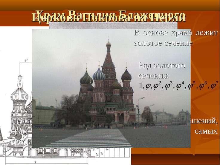 Храм Василия Блаженного Церковь Покрова на Нерли Несмотря на простоту форм и ...