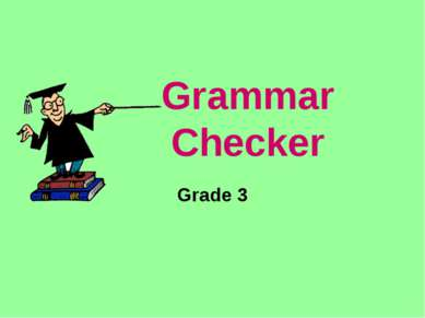 Grammar Checker Grade 3