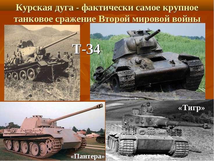 «Пантера» «Тигр» Курская дуга - фактически самое крупное танковое сражение Вт...