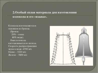 2.Особый сплав материала для изготовления колокола и его «языка». Колокола из...