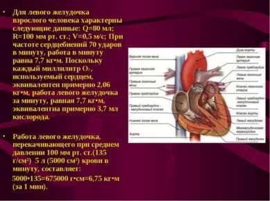 Для левого желудочка взрослого человека характерны следующие данные: Q=80 мл;...