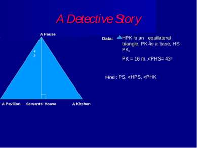 A Detective Story Data: A House A Pavilion A Kitchen Servants' House 43 HPK i...