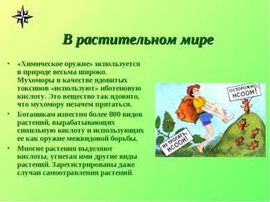 В растительном мире «Химическое оружие» используется в природе весьма широко....