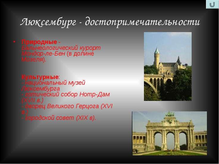 Люксембург - достопримечательности Природные - Бальнеологический курорт Мондо...