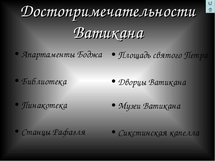 Достопримечательности Ватикана Апартаменты Боджа Библиотека Пинакотека Станцы...