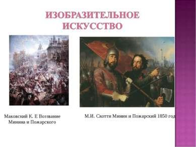 Маковский К. Е Воззвание Минина и Пожарского М.И. Скотти Минин и Пожарский 18...