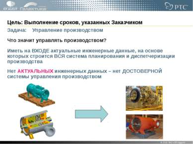 Цель: Выполнение сроков, указанных Заказчиком Задача: Управление производство...