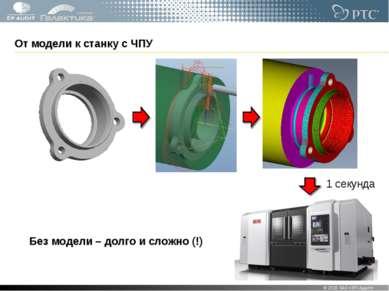 От модели к станку с ЧПУ © 2010 ЗАО «ЭП-Аудит» * Без модели – долго и сложно ...