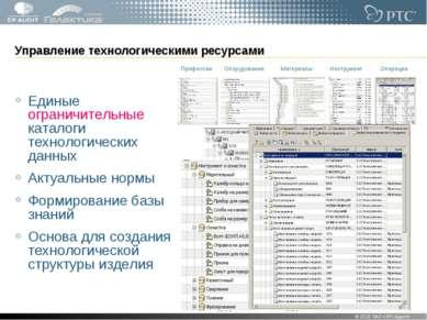 Управление технологическими ресурсами Единые ограничительные каталоги техноло...