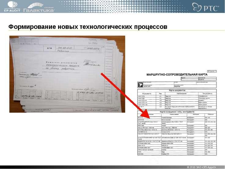 Формирование новых технологических процессов © 2010 ЗАО «ЭП-Аудит» * © 2010 З...