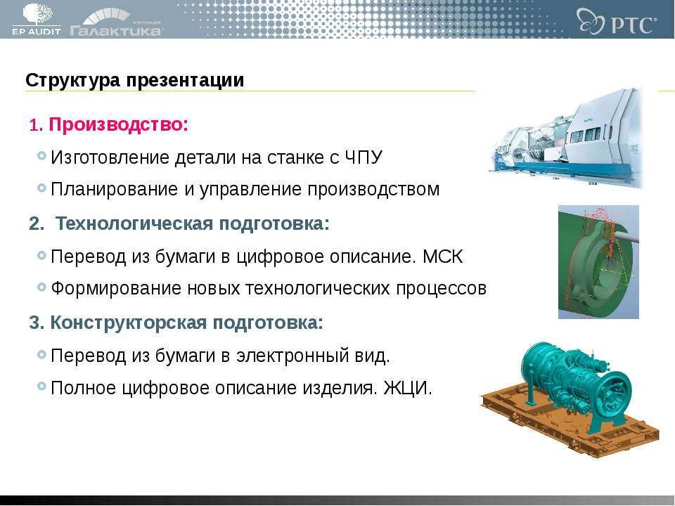 Структура презентации 1. Производство: Изготовление детали на станке с ЧПУ Пл...