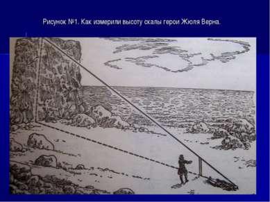 Рисунок №1. Как измерили высоту скалы герои Жюля Верна.