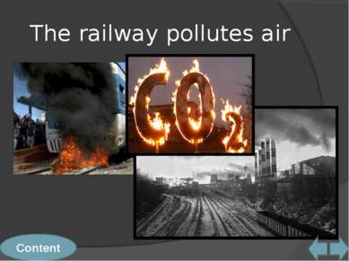The railway pollutes air Content