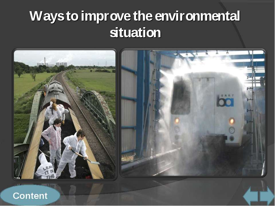 Content Ways to improve the environmental situation