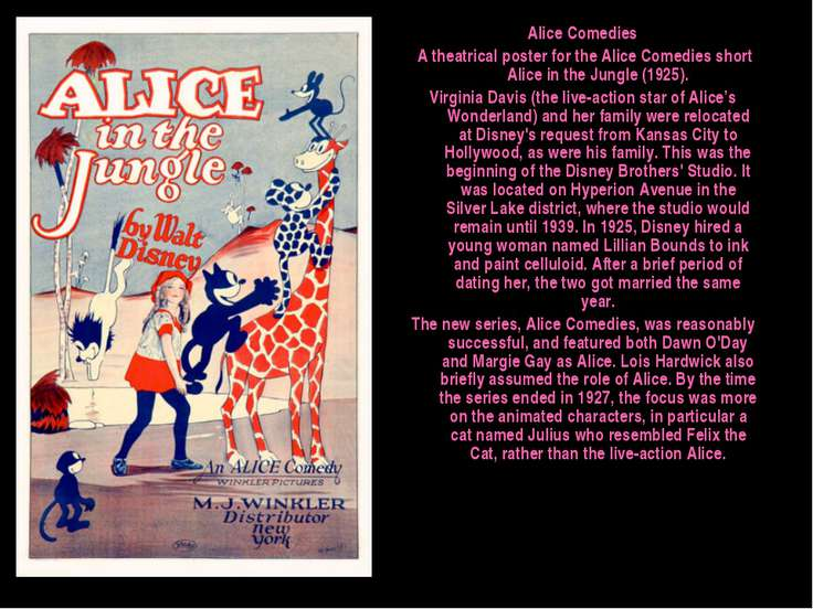Alice Comedies A theatrical poster for the Alice Comedies short Alice in the ...