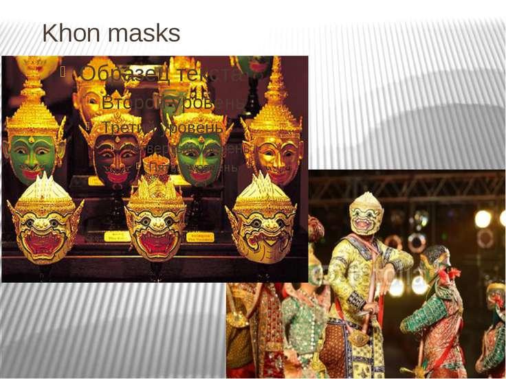 Khon masks