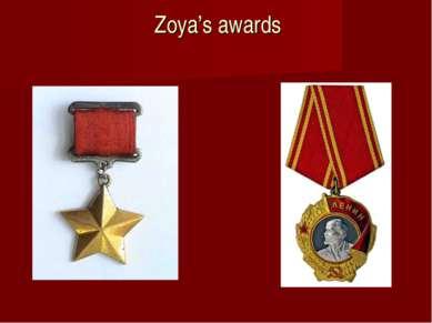 Zoya's awards