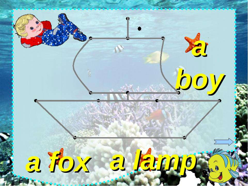 a lamp a fox a boy