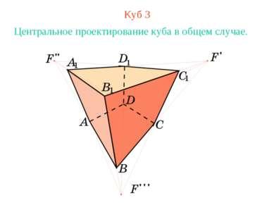 Куб 3 Центральное проектирование куба в общем случае.