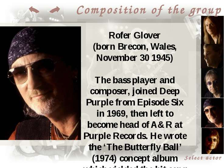Select actor Composition of the group Don Airey (born in Sunderland, England)...