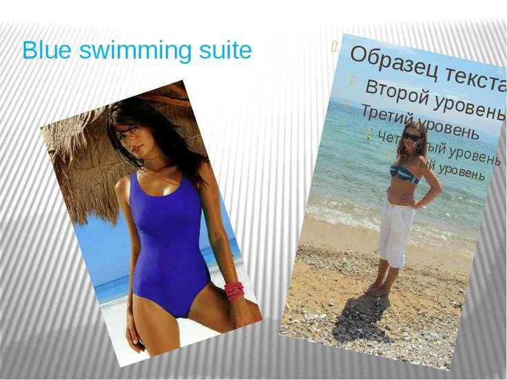 Blue swimming suite