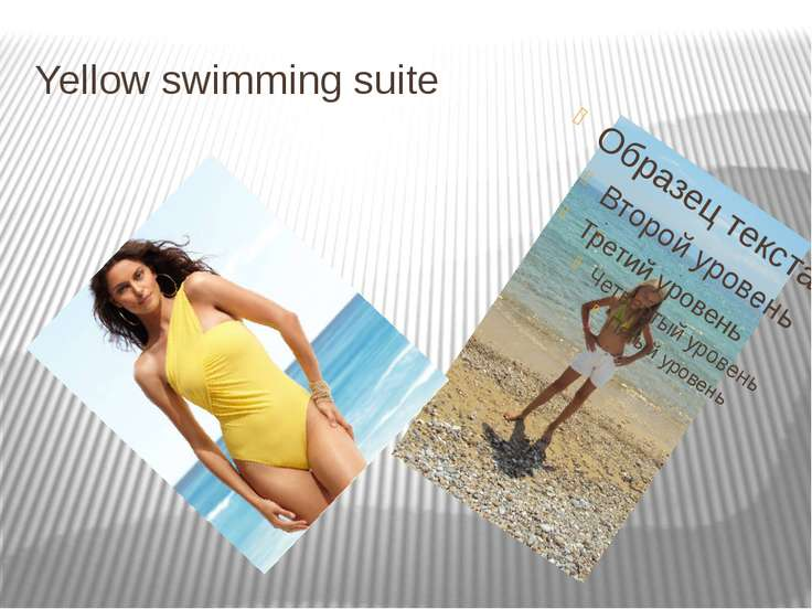 Yellow swimming suite