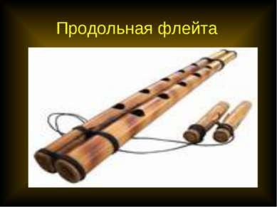 Продольная флейта