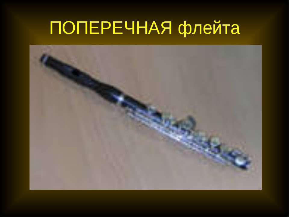 ПОПЕРЕЧНАЯ флейта