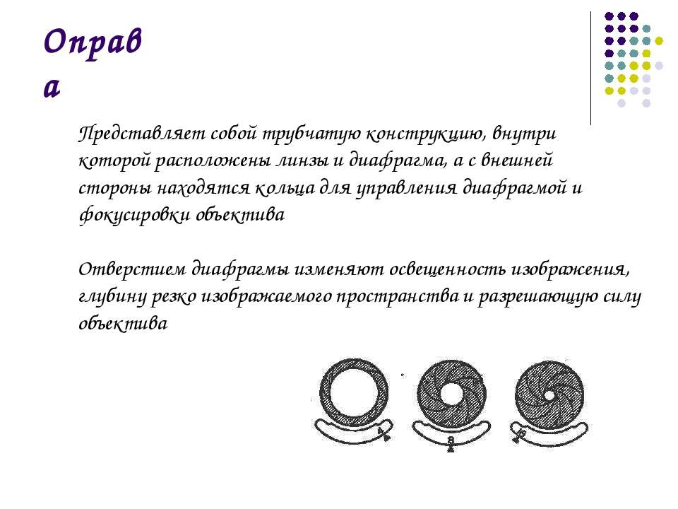 Оправа Представляет собой трубчатую конструкцию, внутри которой расположены л...