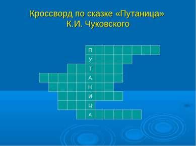 Кроссворд по сказке «Путаница» К.И. Чуковского Н Т И А У П А Ц