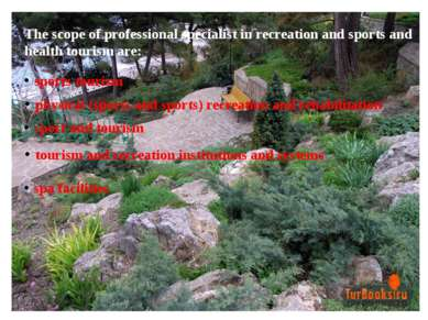 The scope of professional specialist in recreation and sports and health tour...