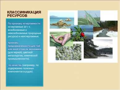 КЛАССИФИКАЦИЯ РЕСУРСОВ